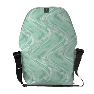 Cotton Candy Green Abstract Messenger Bags