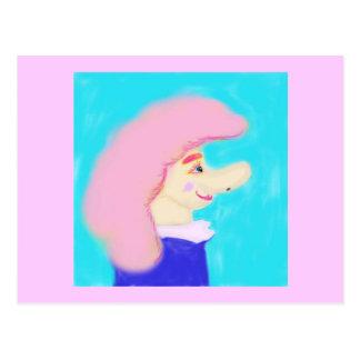 Cotton Candy Hair Postcard
