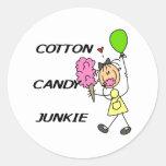 Cotton Candy Junkie Classic Round Sticker