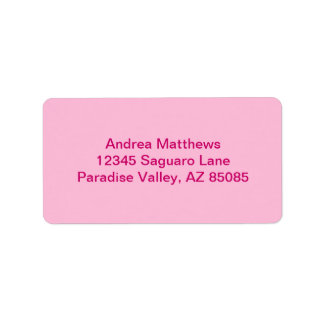 Cotton Candy Personalized Address Label