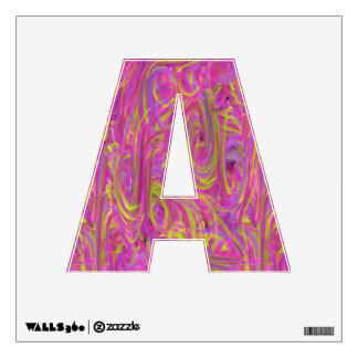 Cotton Candy Look Letter Decal