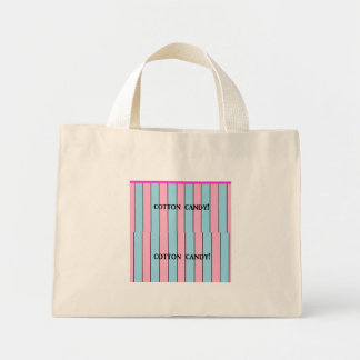 cotton candy mini tote bag
