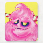 """Cotton Candy Monster Mouse Pad<br><div class=""""desc"""">This features an original creation from Micheline Pitt of her &quot;Cotton Candy Monster&quot;. Share your love of pink and monsters with these super cute monsterous mousepad!</div>"""