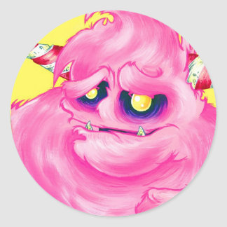 Cotton Candy Monster Stickers