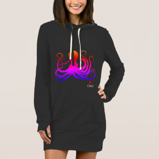Cotton Candy Octopus - Hoodie Dress
