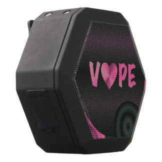 Cotton Candy Pink 3D Vape Heart Black Bluetooth Speaker