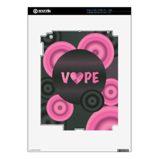 Cotton Candy Pink 3D Vape Heart Decals For iPad 2