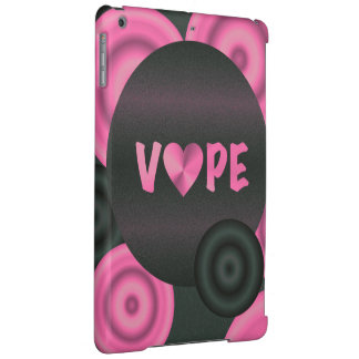 Cotton Candy Pink 3D Vape Heart iPad Air Covers