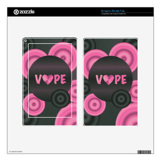 Cotton Candy Pink 3D Vape Heart Kindle Fire Decal