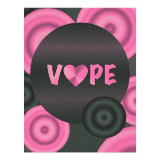 Cotton Candy Pink 3D Vape Heart Letterhead