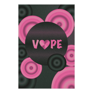 Cotton Candy Pink 3D Vape Heart Poster