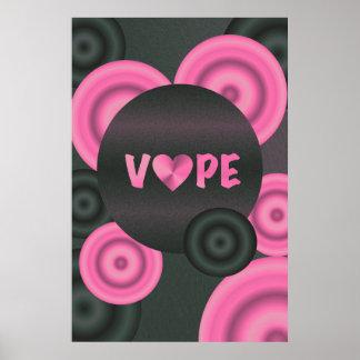 Cotton Candy Pink 3D Vape Heart Poster