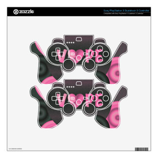 Cotton Candy Pink 3D Vape Heart PS3 Controller Skins