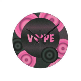 Cotton Candy Pink 3D Vape Heart Round Clock