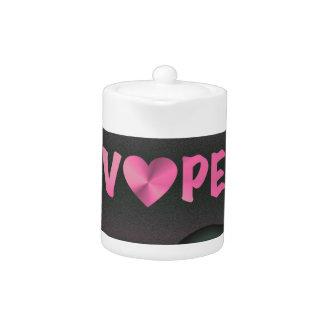 Cotton Candy Pink 3D Vape Heart Teapot