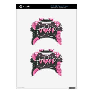 Cotton Candy Pink 3D Vape Heart Xbox 360 Controller Skins