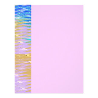 Cotton Candy Pink Abstract Letterhead