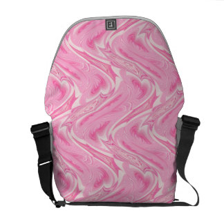 Cotton Candy Pink Abstract Messenger Bags
