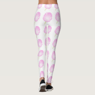 Cotton Candy Pink and White Leggings