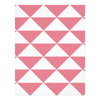 Cotton Candy Pink and White Triangles Letterhead