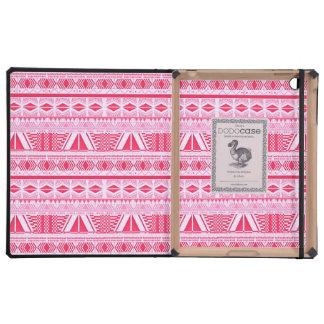 Cotton Candy Pink Aztec Pattern iPad DODO Case iPad Folio Case