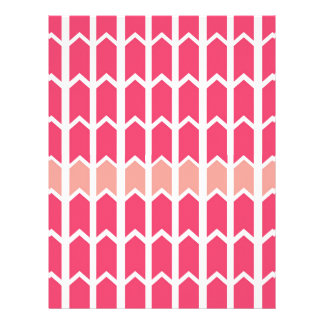 Cotton Candy Pink Bordered Fence Panel Letterhead