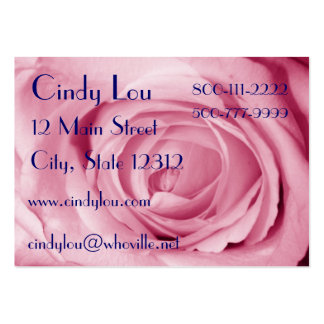 Cotton Candy Pink Business Card