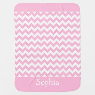 Cotton Candy Pink Chevron Baby Blanket