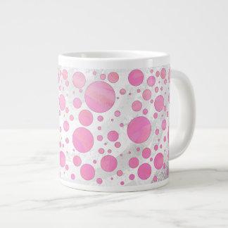Cotton Candy Pink Polka Dot Extra Large Mug