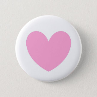 Cotton Candy Pink polka hearts on white Button