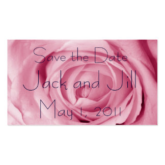 Cotton Candy Pink Save the Date Business Card