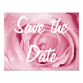 Cotton Candy Pink Save the Date Card