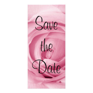 Cotton Candy Pink Save the Date Rack Card
