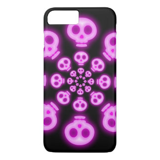 Cotton Candy Pink Skulls 2 iPhone 7 Plus Case