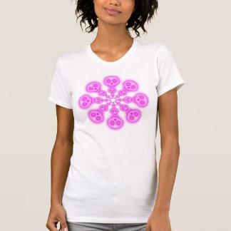 Cotton Candy Pink Skulls womens T-shirt