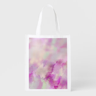 Cotton candy pink striped grocery bag