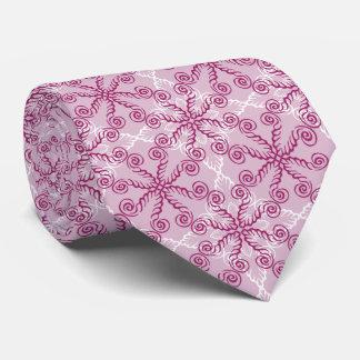 Cotton Candy Pink Swirl Neck Tie