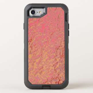 Cotton Candy Pink Tangerine Speckled Pattern OtterBox Defender iPhone 8/7 Case