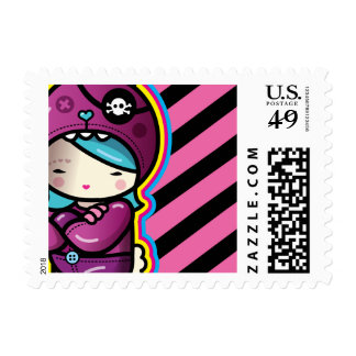cotton candy postage stamp