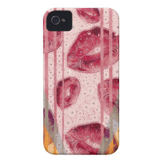 Cotton Candy Raspberry Lips Case-Mate iPhone 4 Case