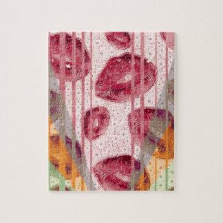 Cotton Candy Raspberry Lips Jigsaw Puzzle