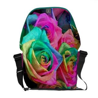Cotton Candy  Roses Messenger Bag