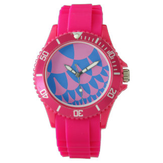Cotton Candy Scales Pink Sporty Watch