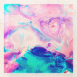 "Cotton Candy Signature Marble Glass Coaster<br><div class=""desc"">Marble class with Cotton Candy flair</div>"