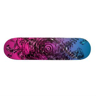 Cotton Candy Skate Deck Swirls