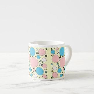 Cotton Candy Sketchy Circles 6 Oz Ceramic Espresso Cup