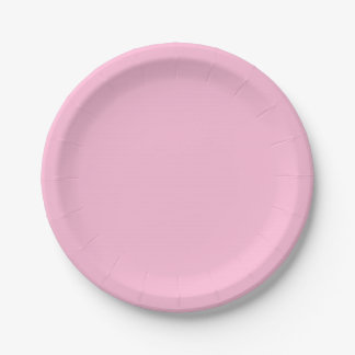 Cotton Candy Solid Color Paper Plate