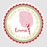 Cotton Candy Stickers- Pink