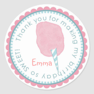 Cotton Candy stickers- Pink and Blue Classic Round Sticker