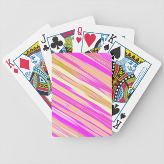 Cotton Candy Stripe Bicycle Playing Cards